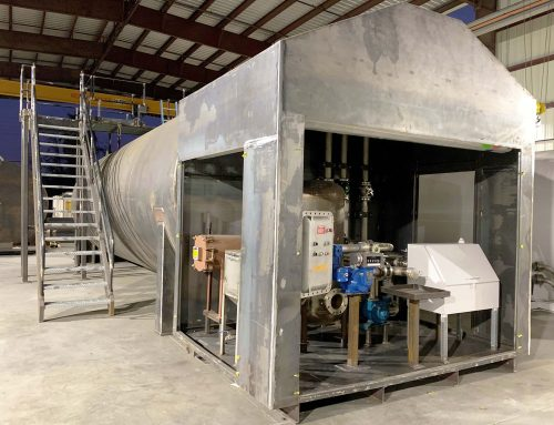 20K Jet A Fueling System with lockable Doghouse, Stairs and Catwalk in Production.